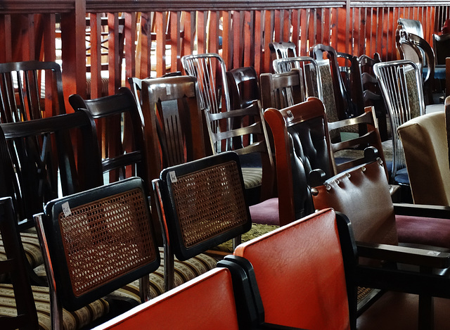 A Room Full Of Chairs at the Harbour Market, North Shieds