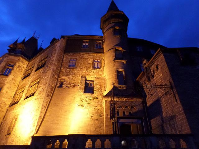 Zur blauen Stunde am Schloss in Wernigerode (siehe PiP)
