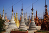 Inn Dein, forest of stupas, Inle Lake, Myanmar