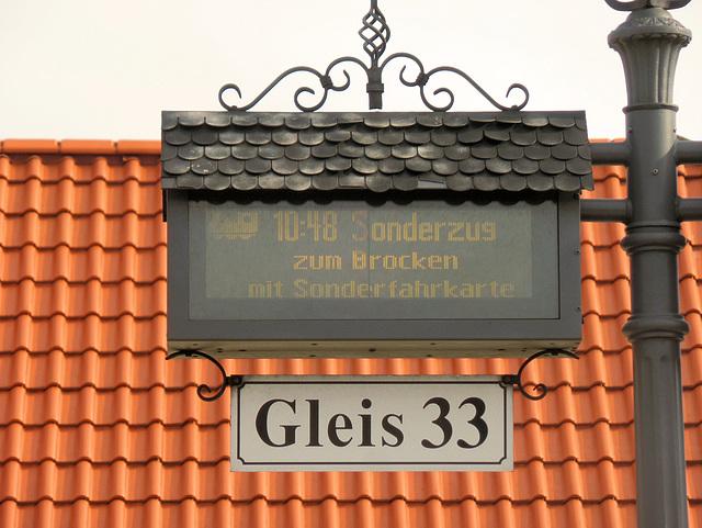 Am  Bahnhof  Wernigerode vor der Abfahrt