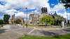 Paisley Town Hall and Paisley Abbey (Wacky Fisheye Shot)