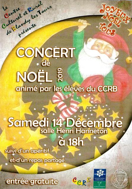 Concert de Noël à Blandy le 14/12/2019