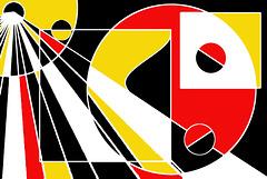 Miro it ain't - Mondrian it might be - maybe it's just mine!