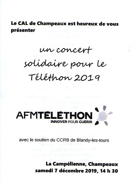 Concert à Champeaux le 07/12/2019