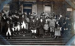 Hunt Meet at Radbourne Hall, Derbyshire 4th November 1921  photo by Ernest Aberahams of Burton upon Trent