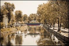 Little boat bridge
