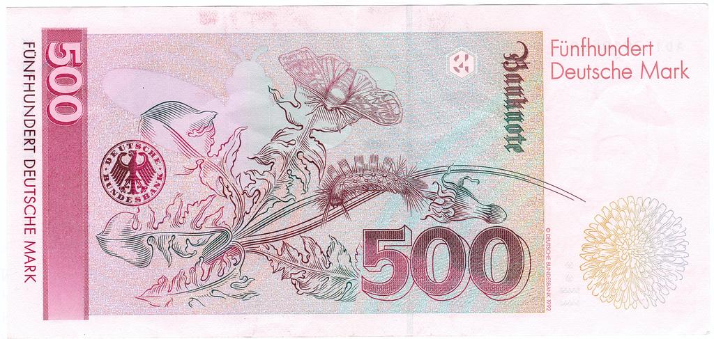 500 DM Schein Bild 600