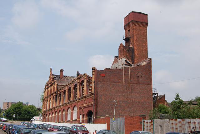 Fire Damaged, Co-Op Wholesale Society Factory, Belmont Row, Birmingham, West Midlands