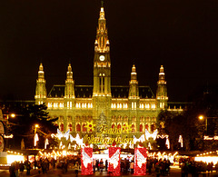 AT - Vienna - Christmas Market in the shadow of the Town Hall