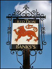 Banks's Red Lion sign