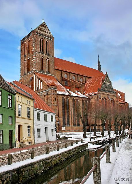 Wismar, St. Nikolai im Winter