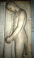 Detail of monument, St Peter's Church, Leeds, West Yorkshire