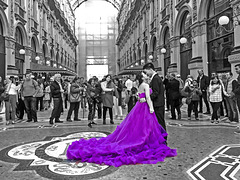 purple bride