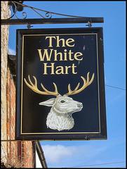White Hart pub sign