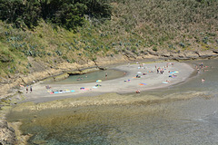 Azores, Beach in the Flooded Crater of the Islet of Vila Franca do Campo