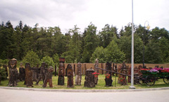 Wooden sculptures.