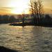 Sun Rising Over the Vltava River