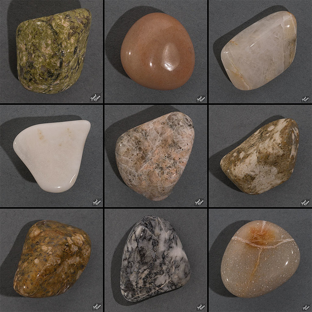 Favorites From My Second Batch of Tumbled Rocks, Set 4 (+15 insets + 10 notes!)