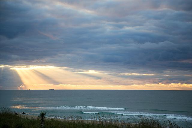 Rays over ocean 2