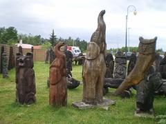Wooden sculptures.