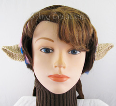 Small Faun Elf Ears on Headband