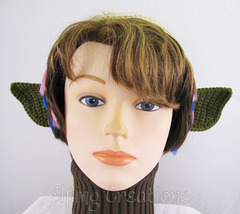 Green Goblin or Orc Costume Elf Ears 1