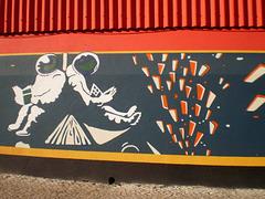 Painting inspired on Amadora's yearly Manga Festival.