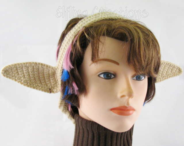 Tan Elf Ears Fantasy Costume Headband