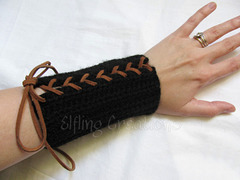 Black Costume Archery Bracers 2