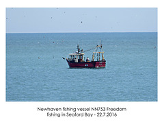 Fishing Vessel 'Freedom' - Seaford Bay - 22.7.2016