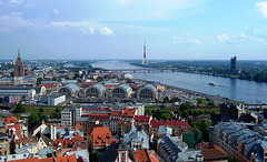 LV - Riga - View from St. Peter's to Daugava River