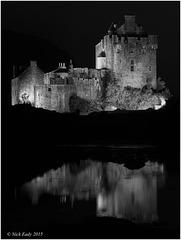 Eilean Donan Castle @ Night Mono