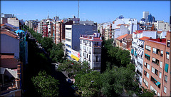 Chamberi, Madrid, from the terrace of a former flat.