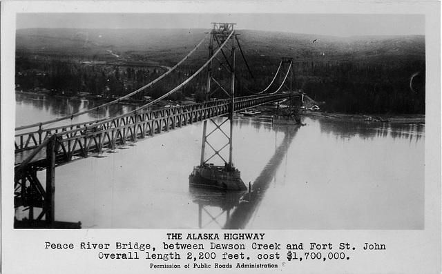 6139. The Alaska Highway - Peace River Bridge