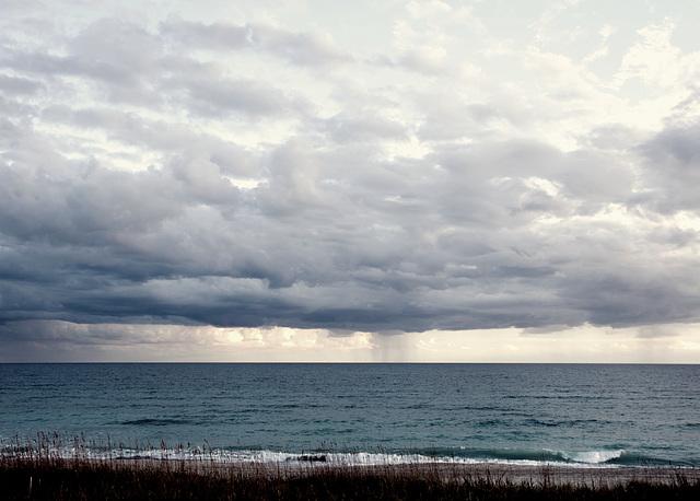 Rain over ocean