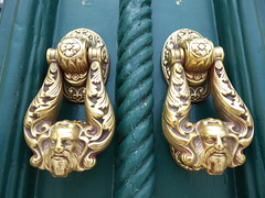 Door knockers, Vila Real, Eastern Algarve, Portugal.