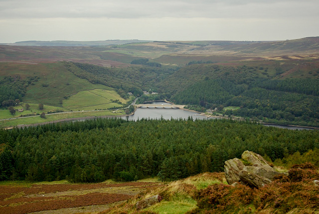 Ladybower Reservoir and Moscar moors