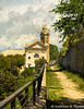 Montalcino Tuscany Church Topaz Filter Impressionistic