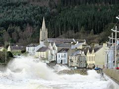 Storm Ciara hits Newcastle County Down N.Ireland