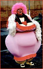 Balcellona : La Rambla - una caricatura dell'obesità !