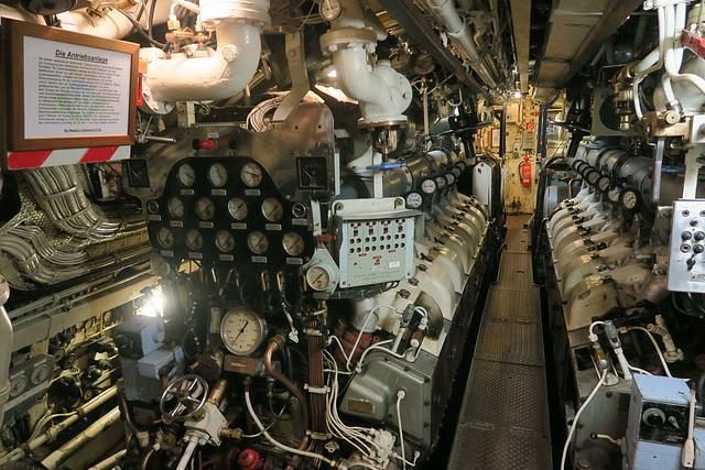 U-Boot H.M.S Otus Maschinenraum
