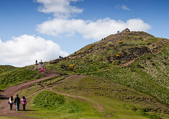 Approaching the Summit of 'Arthur's Seat'