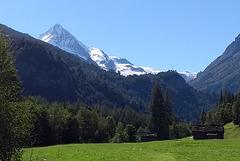 La Dent Blanche, vue de la route de Berthé, Evolène (Valais, Suisse)