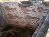 Roman tiles of the frigidarium's pool.