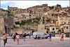 Matera : il piazzale carrabile dove scendono i turisti