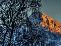 Letztes Abendlicht in den Bergen. Last evening light in the mountains. ©UdoSm