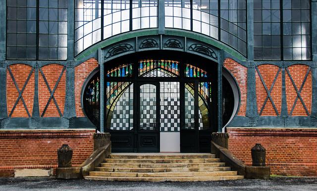 Dortmund - Zeche Zollern - Jugendstilportal der Maschinenhalle