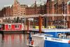 Rot&Blau: Hamburger Binnenhafen mit Speicherstadt