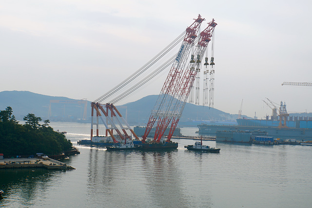 3600T floating crane, DSME