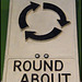 old roundabout sign